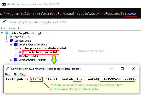 The constant variable in c#