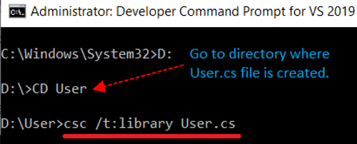 Command to generate assembly using reflection in C#