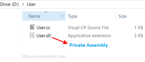 Create Private Assembly Using Reflection in c#