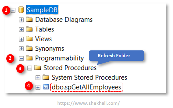 image-Create SQL server Stored procedure in SSMS