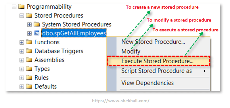 image-Execute sql stored procedure