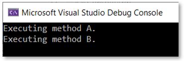 multicast delegate output