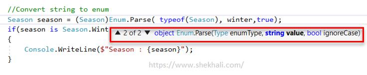 Enum.Parse method in C#