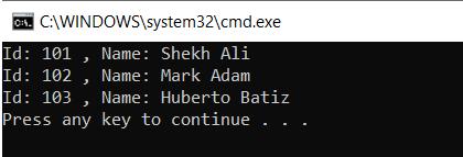 indexers program result
