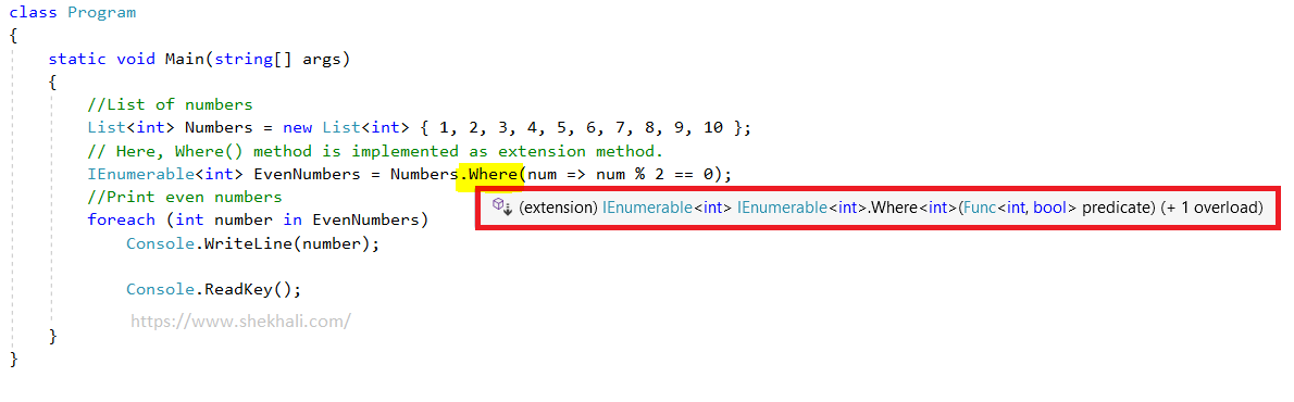 extension methods in LINQ