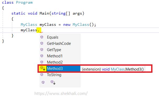 extension method in c#