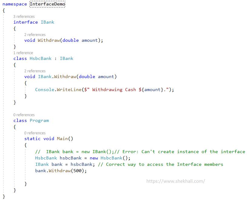 FAQ Interface example