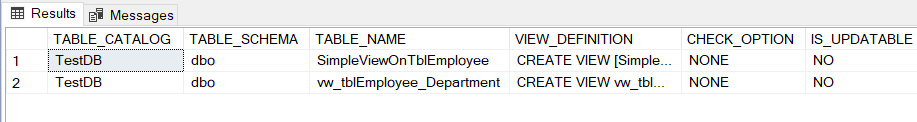 image INFORMATION_SCHEMA.VIEWS in SQL