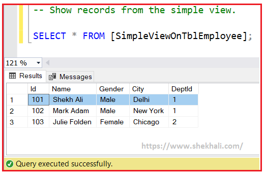 IMAGE-SIMPLE VIEW IN SQL SERVER