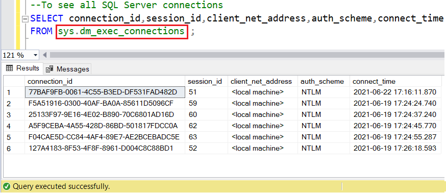 image sys.dm_exec_connections dynamic view in sql