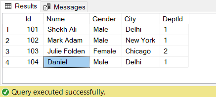 image update record in simple view in SQL