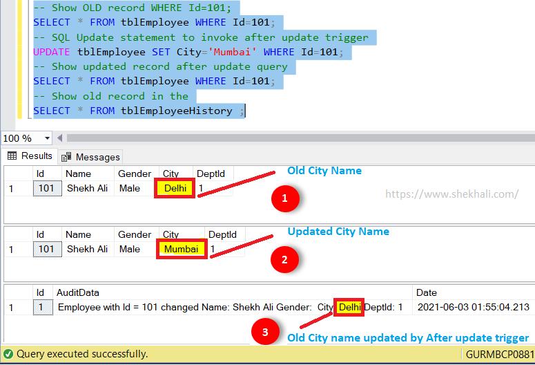 image result SQL update trigger