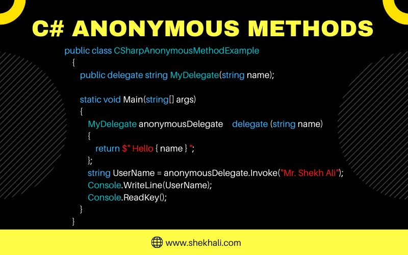 Anonymous Methods In C#
